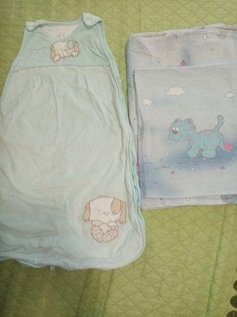 Постель на детскую кровать и мешок кокон для сна
