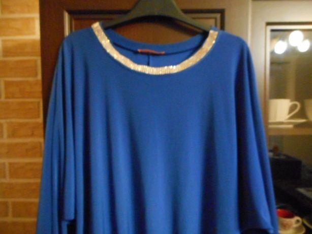 Chabrowa bluzka elegancka L XL 40/42 jak nowa