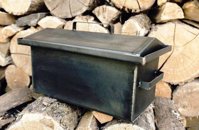 5-6кг загрузка 2мм толщина Коптильня коптилка с гидрозатвором
