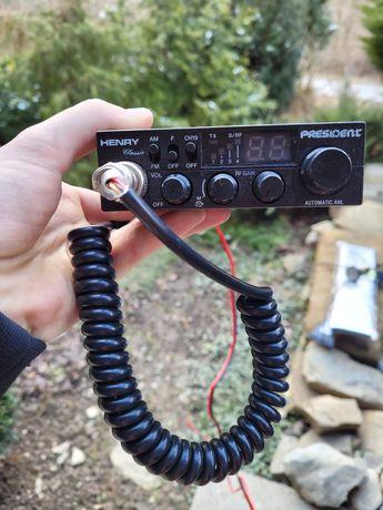 CB radio PRESIDENT HENRY +antena