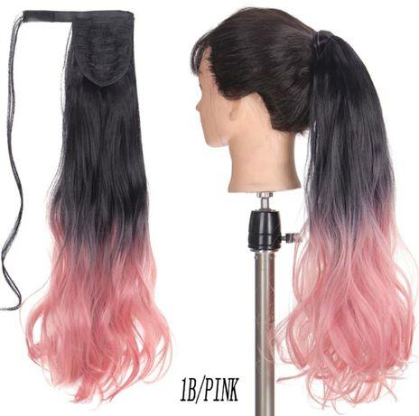 хвостик, шиньон, накладные волосы, накладной хвост, парик