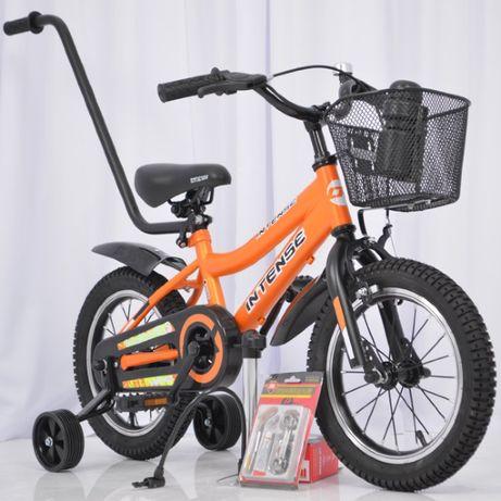 Велосипед детский INTENSE с корзинкой и бутылочкой 14 и 16 дюймов