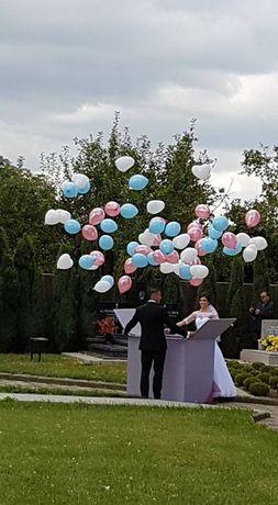 Prezent pudło skrzynia niespodzianka z balonami