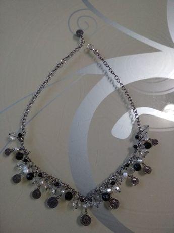 Срібне шикарне намисто з натуральними перлинами 925проби 36грам