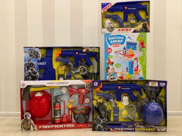 Набор полицейского Набор пожарного Набор доктора Детские игровые