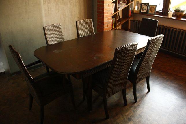 Duży stół rozkładany 1,8 x 1m + 3x47cm