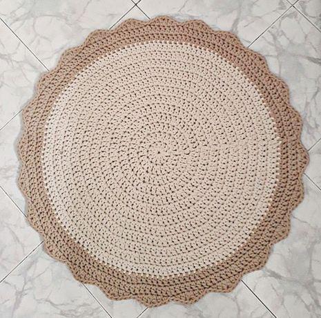 Dywan okrągły ze sznurka bawełnianego