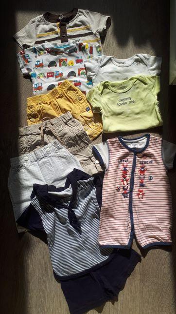 Набор летних вещей мальчику 6-9 carters crazy 8 бодик песочник шорты