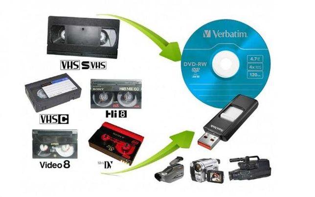 Оцифровка видеокассет VHS, MiniDV 35 грн/час.