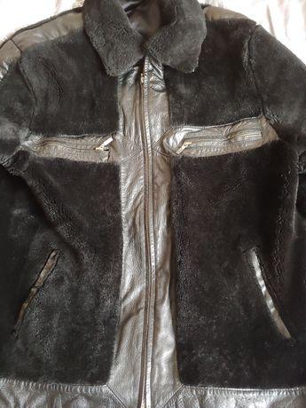 Мужская кожаная куртка дубленка