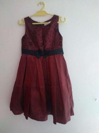 Sukienka bordowa bez rękawów roz. 110