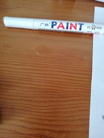 Caneta  de tinta branca para pintar pneus
