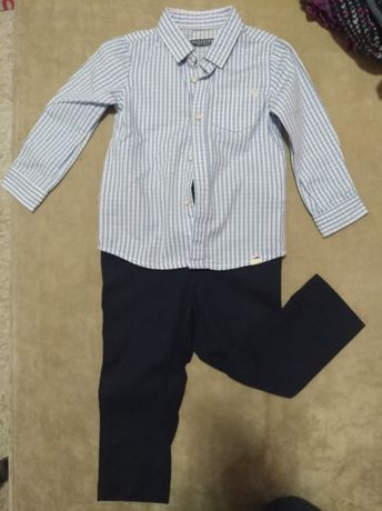 Elegancki komplet koszula i spodnie 86