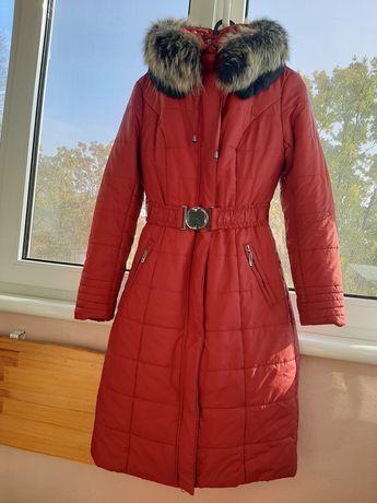 Пальто, пуховик, куртка длинная 44 размер зимняя