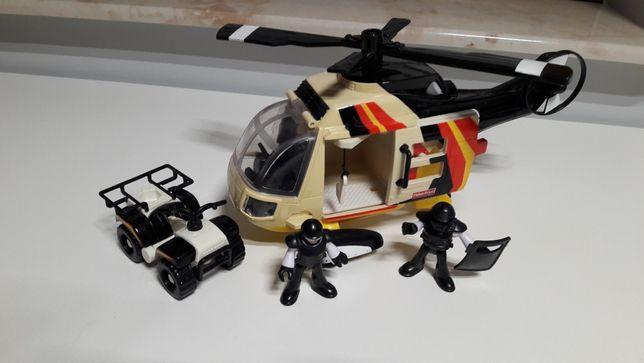 FISHER PRICE Imaginext Helikopter i Quad Policyjny