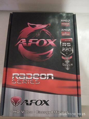 Видеокарта Radeon AFox r5 220 ddr 3 .2048