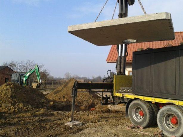 Szamba betonowe szambo przydomowa oczyszczalnia kompleksowo koparka