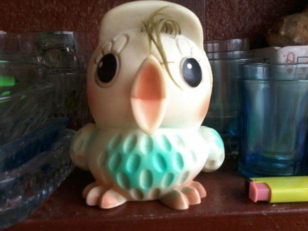 Птичка резиновая ссср 70-е 80-е винтаж игрушка