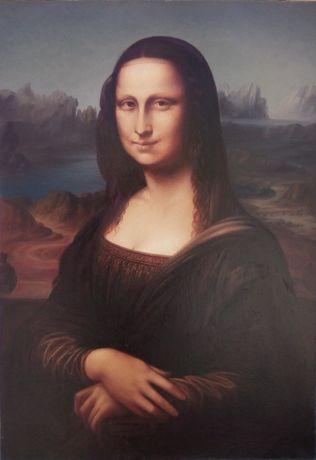 Картина по мотивам Леонардо да Винчи «Мона Лиза». Холст,масло.