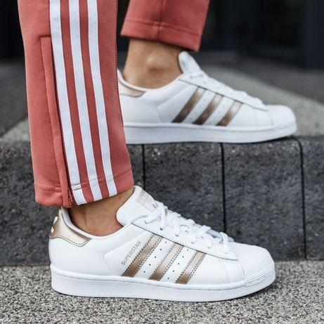 Кроссовки женские Adidas Superstar 37-38 р 23,5 см оригинал кожа