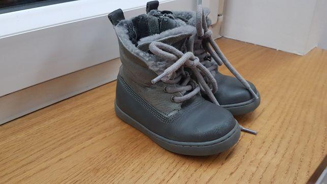 Emporio Armani Jeans Junior Buciki chłopięce zimowe skórzane r 22