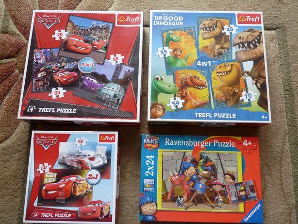 Puzzle Dobry Dinozaur, Rycerz Mike, Disney Pixar Cars w.4+ c. kompletu
