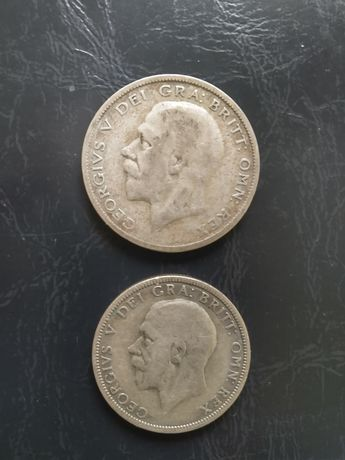 Stare monety Wielka Brytania srebro