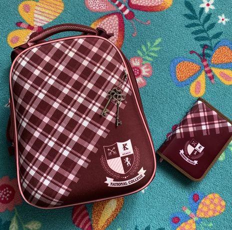 Школьный каркасный рюкзак Kite, портфель, ранец, кайт, ортопед., пенал