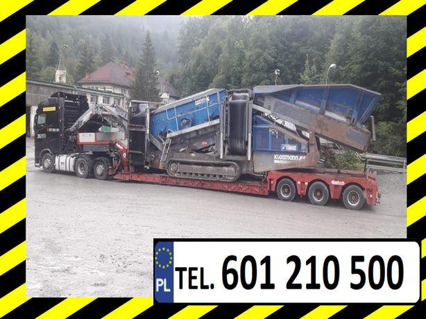 Transport Gabarytów Tiefbett Semi Podczołgowa Najazd Dłużyca Platforma