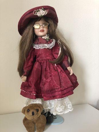 Lalka z porcelany kolekcjonerska