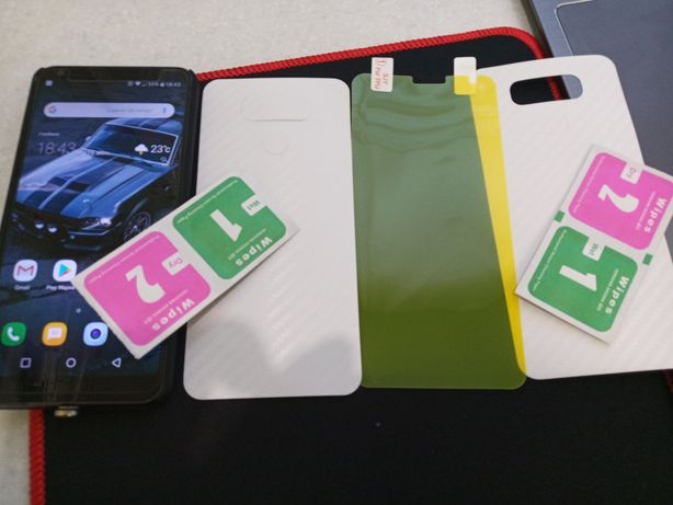 Защитное стекло и карбоновая пленка 2 шт. LG G6