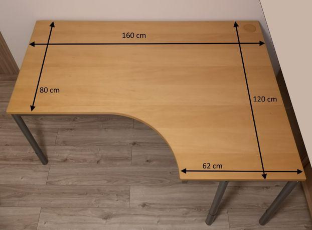 2 x Biurko narożne z regulacją wysokości, duże, solidne, ergonomiczne