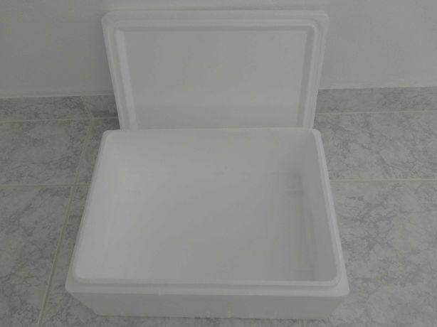 Caixa térmica / geleira em esferovite