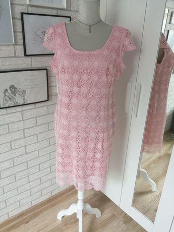 Sukienka pudrowy róż XL troll