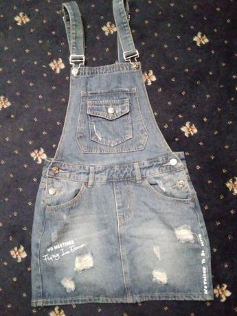 Юбка и шорты джинс комбез