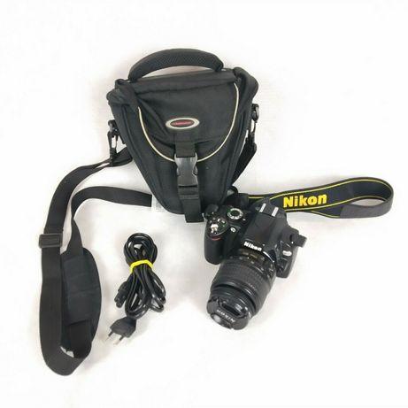 Nikon D60 + obiektyw 18-55mm + futerał + ładowarka