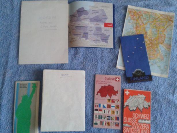 LOTE de 6 mapas diversos de países e cidades+ BRINDE