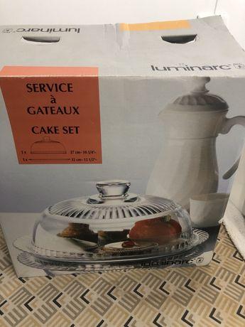 Serviço para bolo ou queijo Luminarc