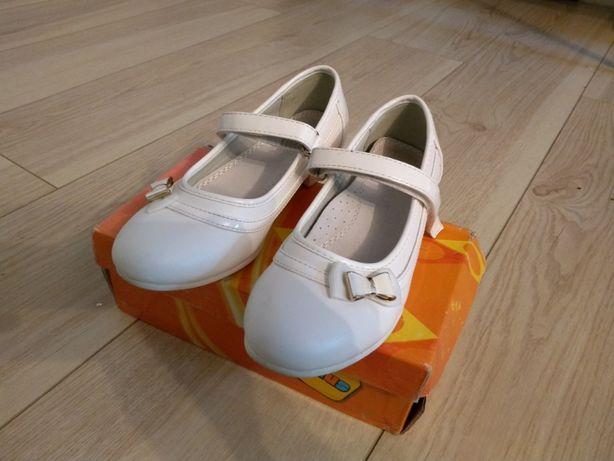 Baletki buty komunijne komunia 33 białe do komuni