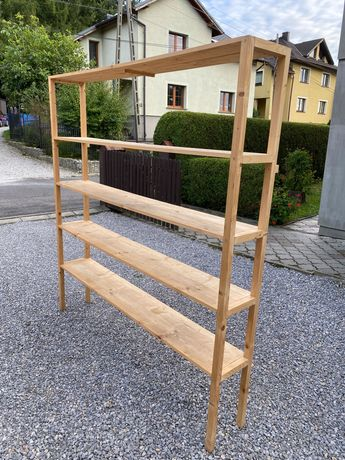 Regał drewniany z litego drewna duży
