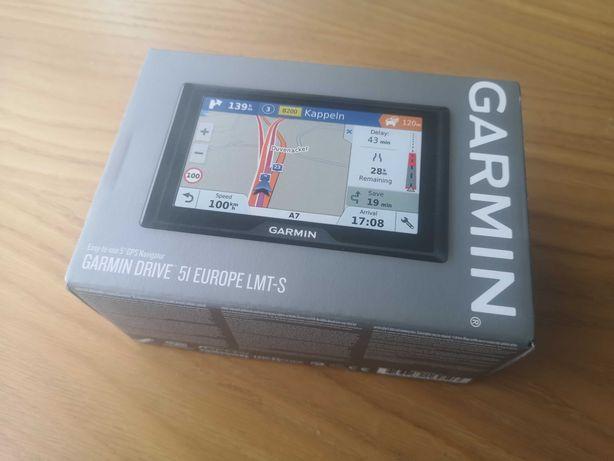 Nawigacja Garmin Drive 51 LMT-S EUROPA dożywotnia mapa NOWA FVAT