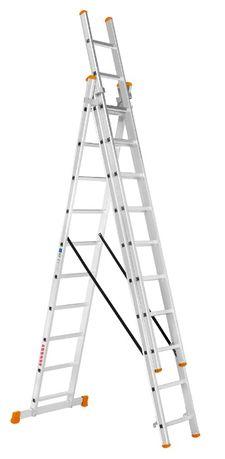 Escadas em Alumínio Tripla 3+3+3 (alcança os 7,5 metros)