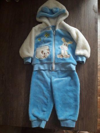 Пушистый костюмчик для малыша.
