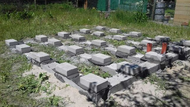 Działka ROD Hutnik - w pełni uzbrojona, wypoziomowane bloczki
