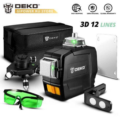 Laser krzyżowy samopoziomujący DEKO DKLL12PB1 12 linii