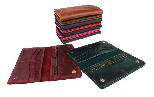 Кожаный мужской женский кошелек портмоне ручная работа sullivan