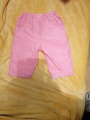 Spodnie zimowe ocieplane dla dziewczynki r. 68