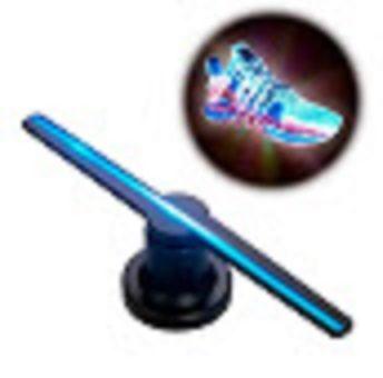 Голографічний проектор Hologram Led Fan 3D вентилятор | 3д реклама-гол