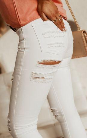 Spodnie z przetarciami na pupie