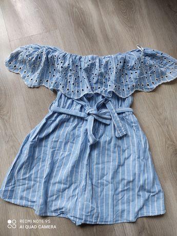 Sukienka kombinezon z Zary Zara haft ażur xs